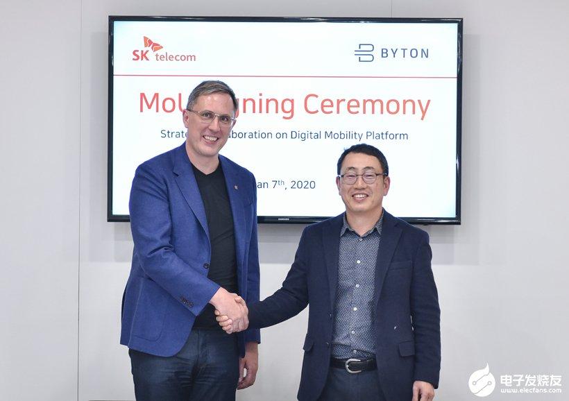 拜腾汽车与SK电讯达成合作,整合两方数字产品和服务