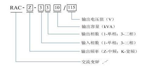 静变电源的命名方式