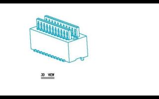 0.8mm双槽板对板BTB连接器的规格原理图免费下载