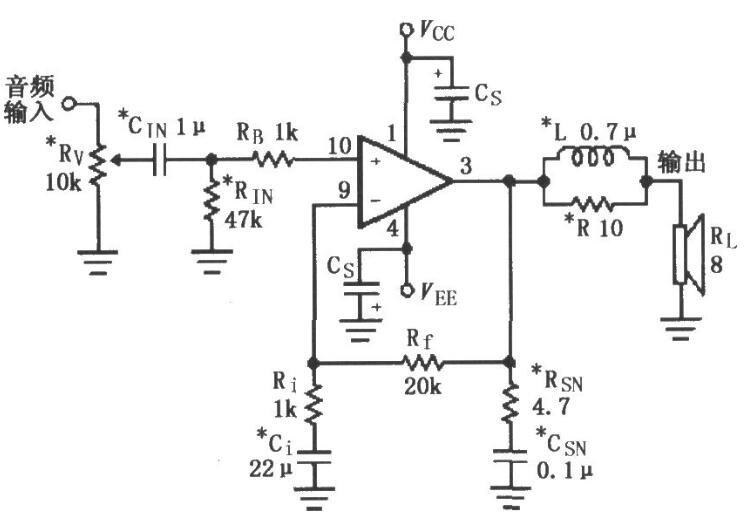 基于LM4700/4701的音频功率放大电路图