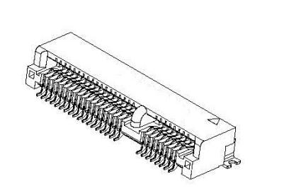 MINI PCI-E 52PPIN 5.2H连接器的规格原理图免费下载