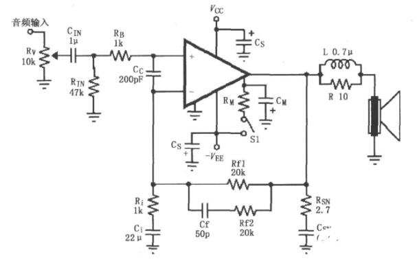 基于LM4732的音频功率放大电路图