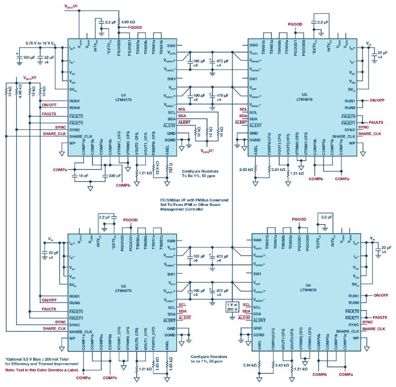 具有可编程环路补偿功能的µModule系列高密度电源解决方案
