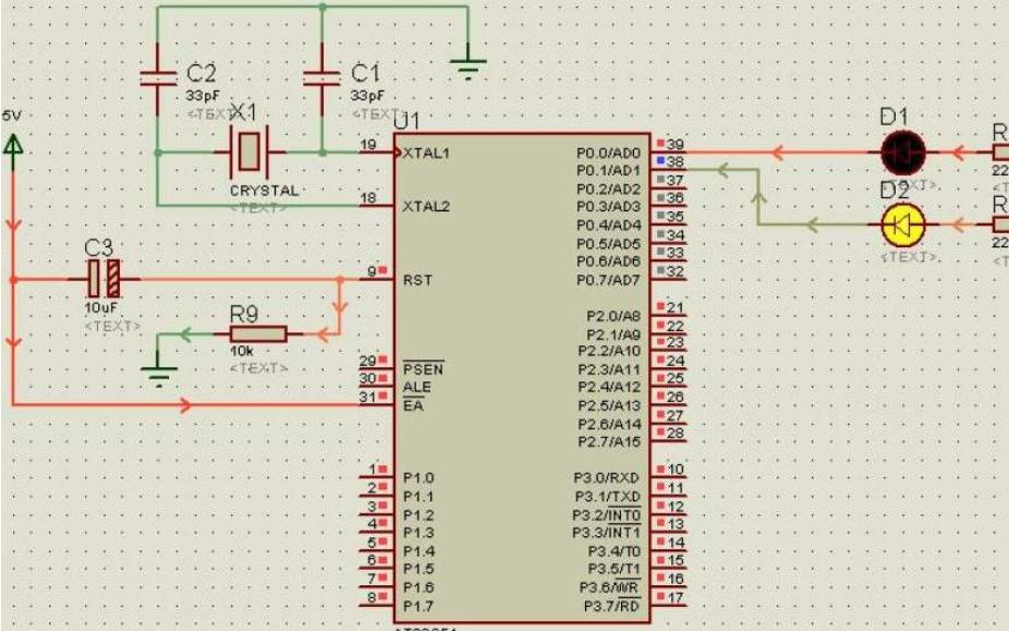 24C04与数码管的Proteus仿真电路图免费下载