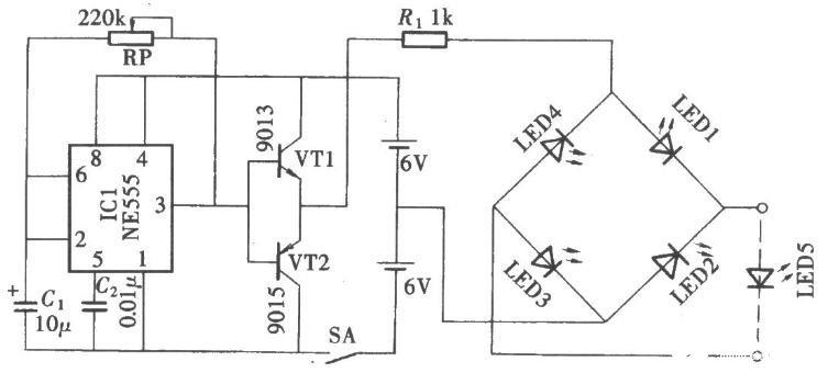 基于NE555的桥式整流演示电路