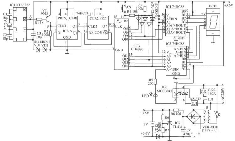 照明节电控制电路图