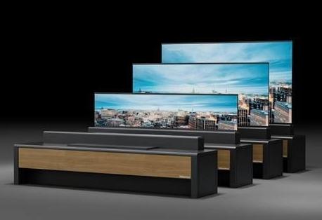 海信在美国发布了全球首台卷曲屏幕激光电视