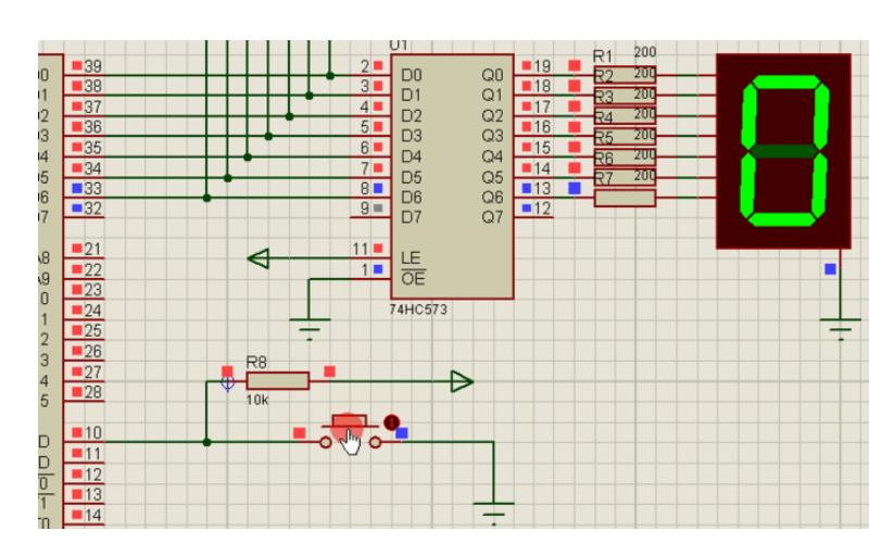 定时器控制数码管动态显示的Proteus仿真电路图免费下载