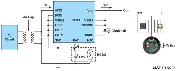 高度集成的无线充电器接收器方案
