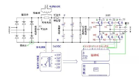 变频器内部主电路分析