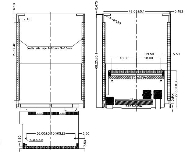 WK28043 2.8寸ILI9341 TFT LCD尺寸圖免費下載