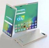 三星秘密展示柔性OLED显示屏原型机,能从侧面拉长手机屏幕
