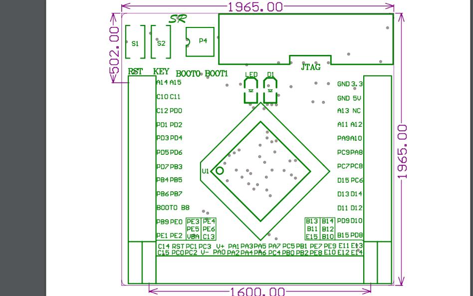 STM32F103VET6芯片的PCB注解图免费下载