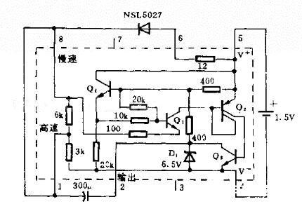 发光二极管闪光电路图