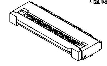 FPC连接器0.5间距2.0H下接掀盖式连接器的规格原理图免费下载