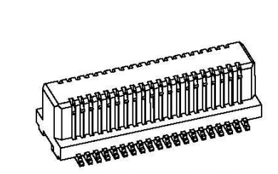 0.5MM和0.8MM间距侧插板对板连接器公母座规格原理图免费下载