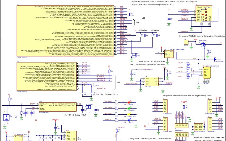 MicroPython开发板的电路原理图免费下载