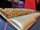 土豪新玩具 威刚推出一款24K镀金设计的游戏键盘