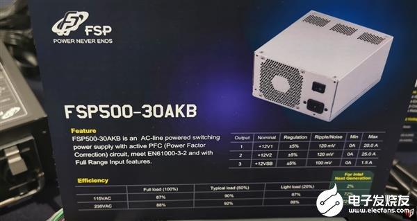 全漢展出一款500W電源 僅有12V輸出符合Intel最新規范