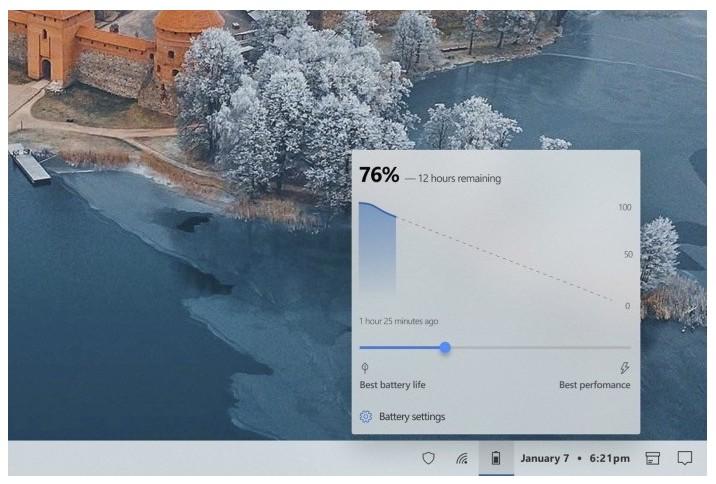 用户自己设计的Windows 10电池弹出界面概念
