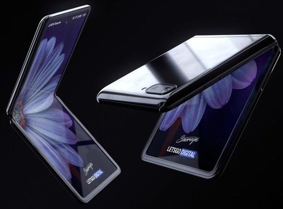 三星Galaxy Z Flip折叠屏手机渲染?#35745;?#20809;折叠原理与摩?#26032;?#25289;RAZR相似