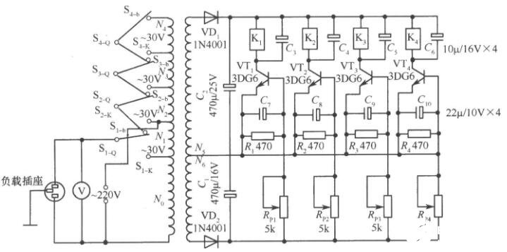 晶体管交流调压器电路图