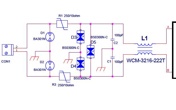 RS485EMC标准设计电路图免费下载