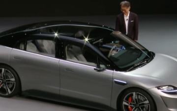索尼电动汽车Vision-S发布,布满33颗自动驾驶传感器