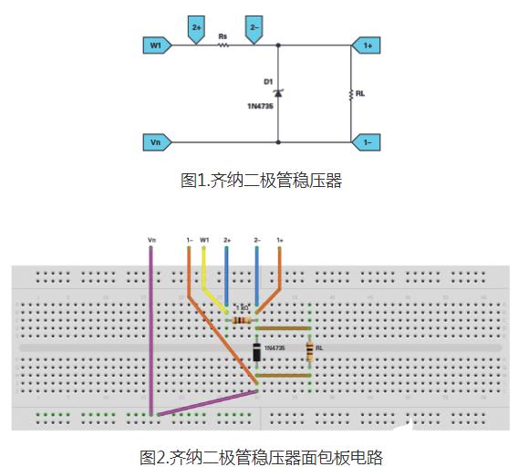 使用齊納二極管穩(wen)壓器構(gou)建電路的(de)方式概述(shu)
