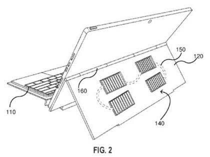 微软新专利曝光将太阳能电池板集成在了机身上