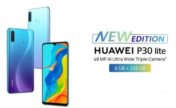 华为英国市场推出带有谷歌服务的新版P30 Lite手机