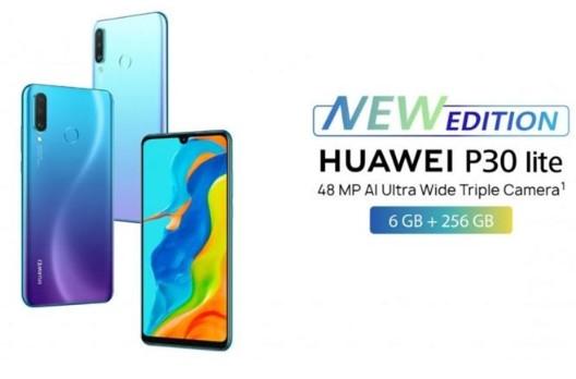 华为新版P30 Lite手机在英国市场出售,售价约合人民币2682元