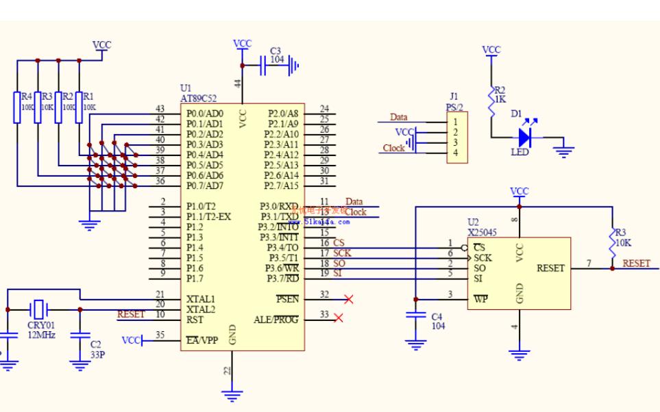 如何使用单片机驱动标准PC机键盘?C51程序详细...