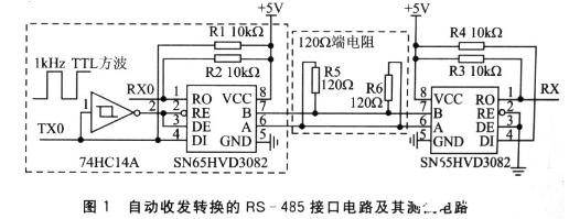 零延時RS-485接口電路具有很強的抗共模干擾能力