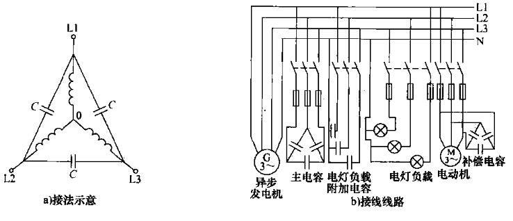 电动机改接发电机电路图