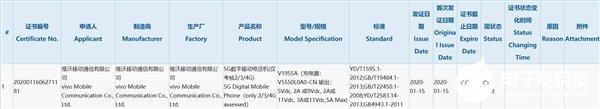 vivo 5G新机通过3C认证 充电器输出功率达55W