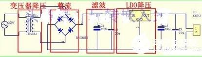 220v交流电转化成12v直流电的方法