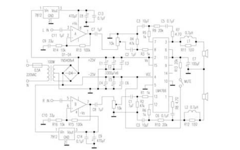 LM4766实用功放电路图和资料简介