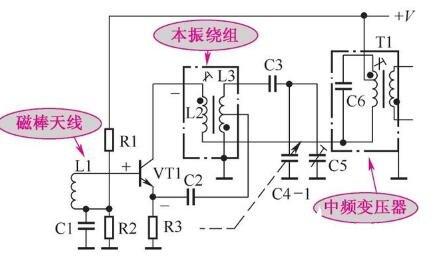 典型的收音机变频电路分析