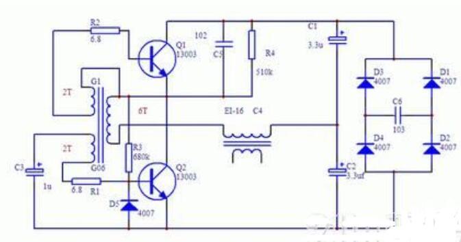 行输出变压器制作霓虹灯电路