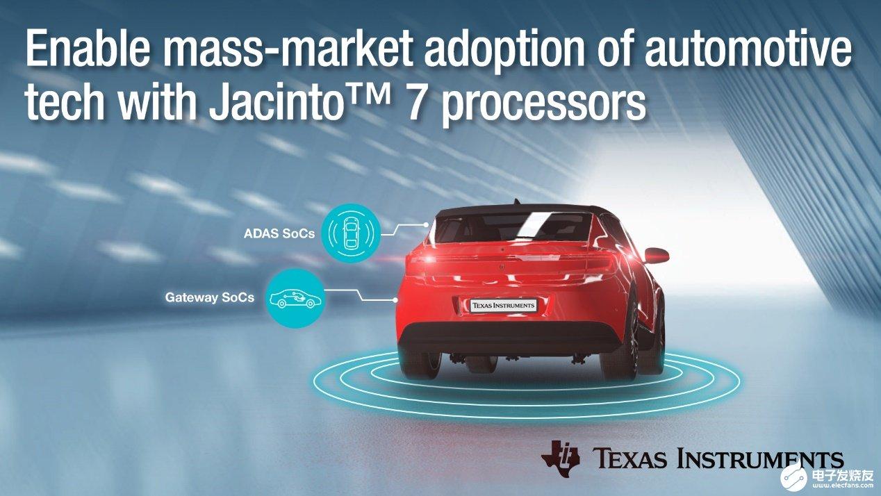 德州仪器Jacinto 7系列处理器助力汽车ADAS技术大众化