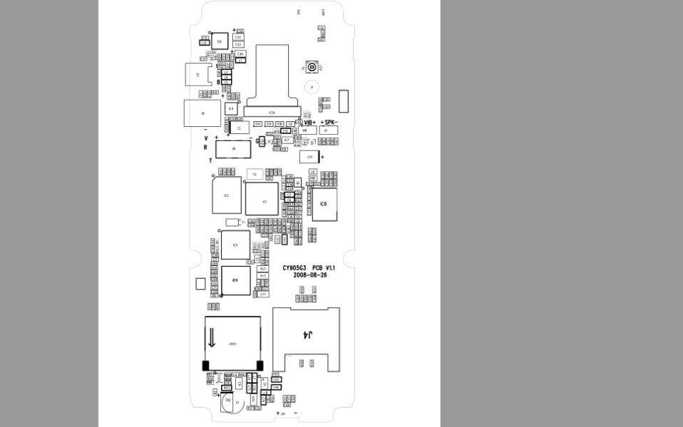 海信G3主板正反面版的点位图免费下载