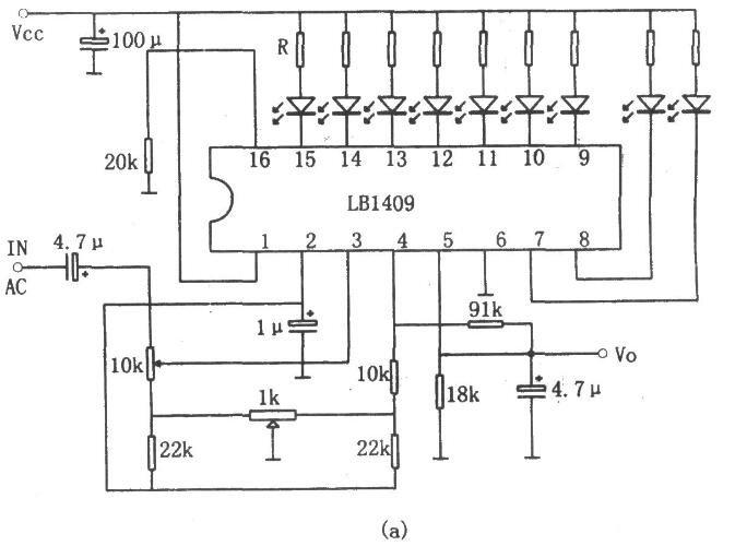 LED电平显示驱动电路图
