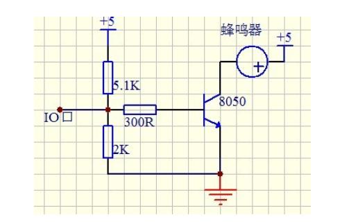 使用单片机按键控制蜂鸣器发音的仿真电路图