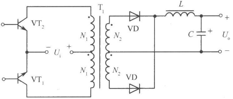 推挽式变换电路开关稳压电源电路图