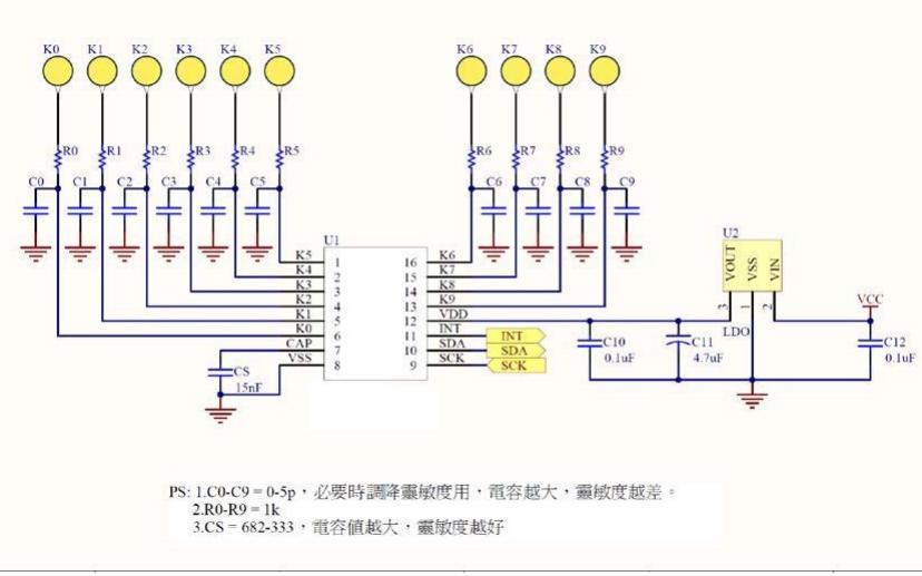 VK3710IM电容式触摸按键的数据手册免费下载