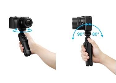 索尼推出无线蓝牙多功能拍摄手柄,采用桌面三脚架式一体设计