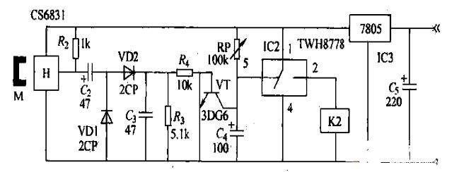 纺织整经机磁控电路图