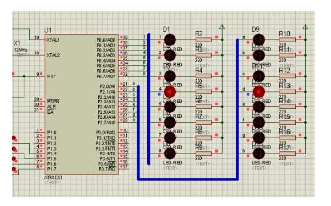 K1到K4键分组控制LED的仿真电路图免费下载