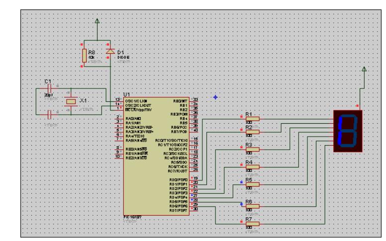 使用MAX7221控制数码管动态显示的仿真电路图免费下载